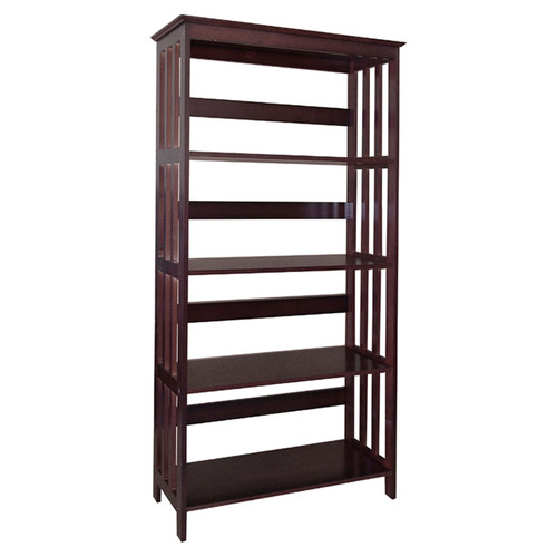 Mission Style 4-Shelf Bookcase, Espresso