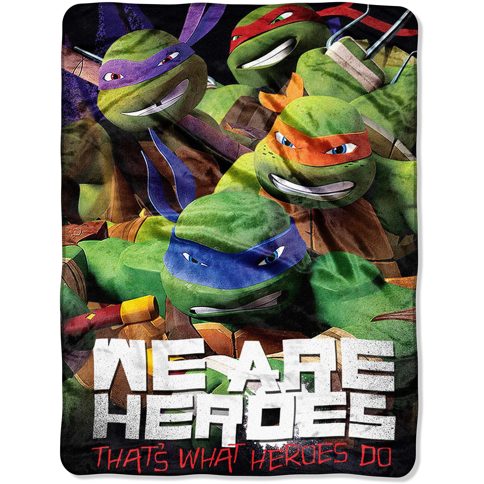 Teenage Mutant Ninja Turtles 46x60 Micro Raschel Throw
