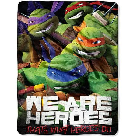 Teenage Mutant Ninja tortugas 46 x 60 Micro Raschel tiro + Teenage en Veo y Compro
