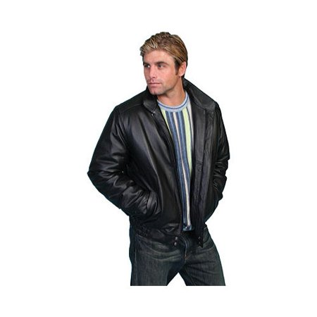Scully 977-406-42 Mens Leather Wear Jacket, Black Top Grain Calf - Size 42
