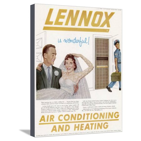 Air Conditioning Advert Stretched Canvas Print Wall Art Art Cool Air Conditioning