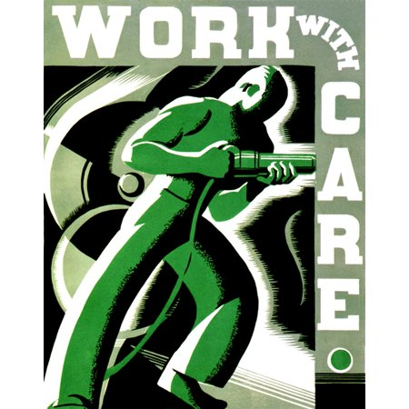 Workplace Safety FAP Poster 1937 Rolled Canvas Art - Science Source (18 x 24)