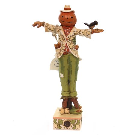 Jim Shore WELCOME FALL WITH A SMILE Polyresin Harvest Scarecrow (Jim Shore Scarecrow)