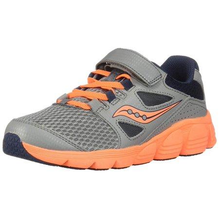 Saucony Kotaro 4 A/C Sneaker, Grey, Grey/Navy/Orange,  Size Little Kid 11.5 ()