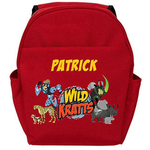Personalized Wild Kratts Creature Adventure Red Toddler Backpack