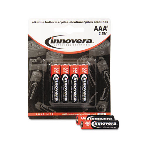 INNOVERA                                           Alkaline Battery, 8/Pack (Set of 3)