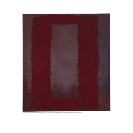 Mural, Section 4 {Red on maroon} [Seagram Mural] Print Wall Art By Mark Rothko
