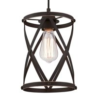 "Westinghouse 6362200 Oil Rubbed Bronze Isadora 1 Light 7"" Wide Cage Mini Pendant"