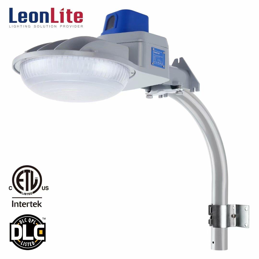 LEONLITE 75W LED Outdoor Security Light, Security Lights Dusk-to-Dawn, LED Outdoor Wall Lights for Patio, Barn light, 5000K Daylight, Silver