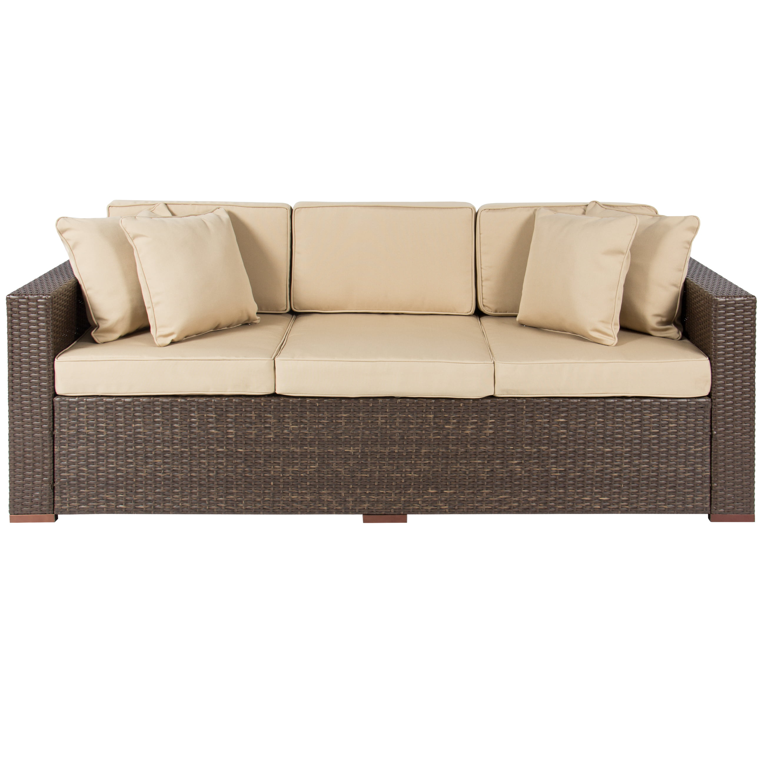 3 seat patio sofa better homes and gardens azalea ridge for Divan and settee