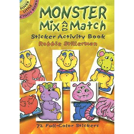 Monster Mix and Match Sticker Activity Book - Monster High Activity Journal