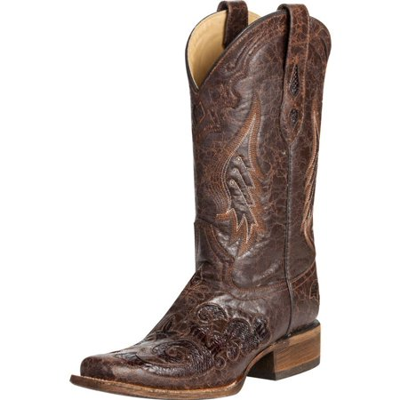 Corral Boot Company Womens  Vintage Brown Python Inlay Cowgirl Boots (Wear Cowgirl Boots)