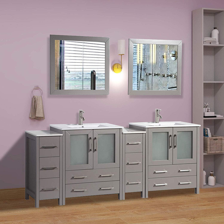 "Vanity Art 84"" Double Sink Bathroom Vanity Combo Set 10 ..."