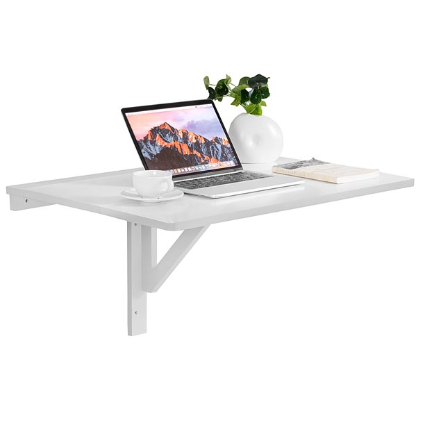 Wall-Mounted Drop-Leaf Table Folding Space Saving Hanging Laptop Desk