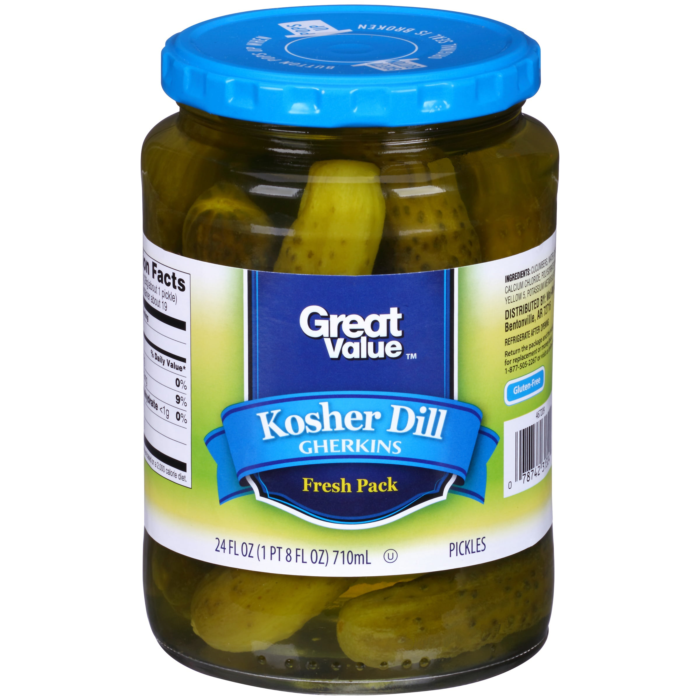 Great Value Baby Dill Pickles, 24 oz by Wal-Mart Stores, Inc.