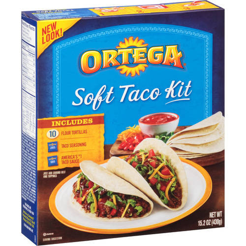 Ortega Soft Taco Kit 15.2 oz Box