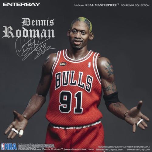 Enterbay NBA Basketball Chicago Bulls Dennis Rodman #91 1/6 Figure Scale Statue (Christmas Gift Idea)