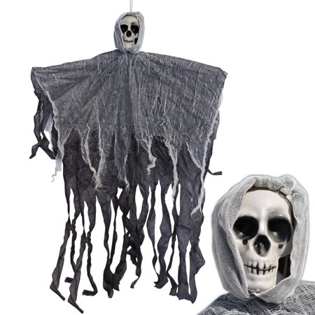 Strong Camel 3.1' Hanging Reaper Skull Head Prop Ghost Halloween Prop Haunted House Yard Scary Decor