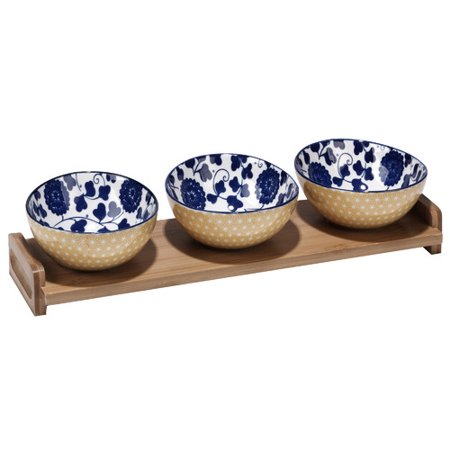 Latitude Run Hannan Indigo Poppy 4 Piece Condiment Server
