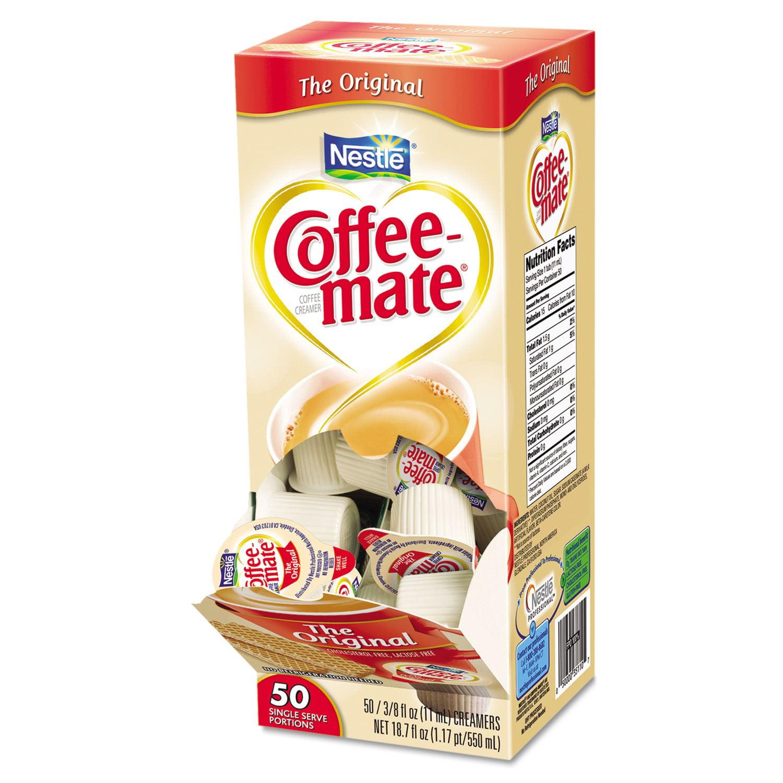 Coffee-Mate Coffee Creamer Original Liquid Creamer Singles 50 Ct