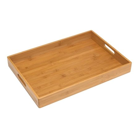 Solid Color Fiberglass Tray (8865 Solid Bamboo Wood Serving Tray, 19.75