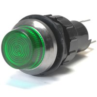K-Four Large Flashing Green Indicator Warning Light Bolts Into A 3/4 Inch Hole