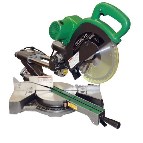 Hitachi C10FSHPS 10 in. Sliding Dual Compound Miter Saw with Laser Guide by Hitachi