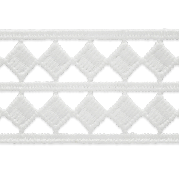 Expo Int'l 2 yards of Two Row Diamond Border Lace Trim