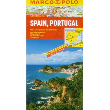 Spain/Portugal Marco Polo Map - City Of San Marcos Ca
