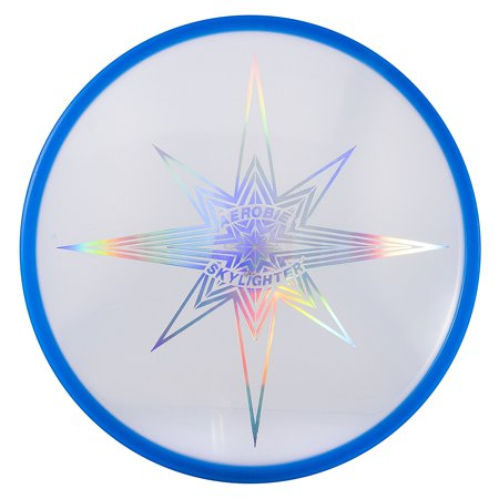Skylighter Disc - Single Unit (Colors May Vary), Spectacular Flights Day Or Night, Powerful Led'S Light Up The Entire Disc By Aerobie