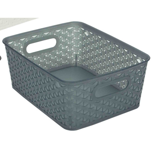 Home Basics Transparent Plastic Basket