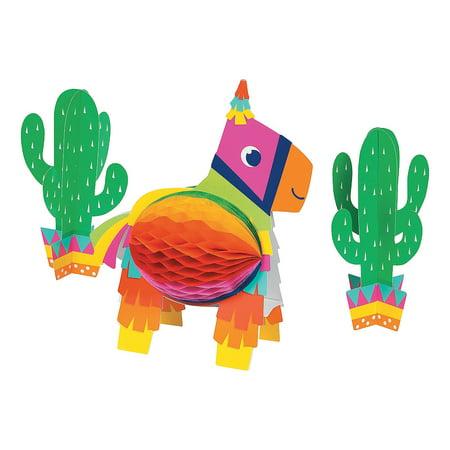 Fun Express - Fiesta Fun Centerpiece for Cinco de Mayo - Party Decor - General Decor - Centerpieces - Cinco de Mayo - 1 Piece - Cinqo De Mayo