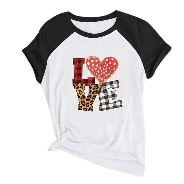 Women Casual Printing Short Sleeves O-Neck Loose T-Shirt Blouse Tops