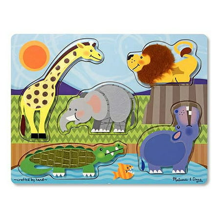 Touch and Feel Puzzle - Zoo Animals for $<!---->