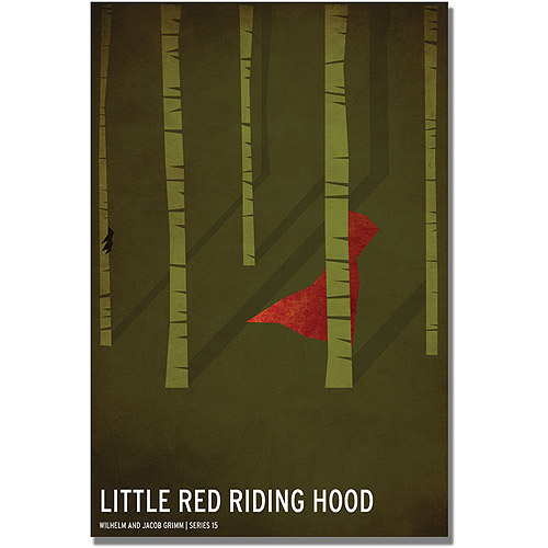 "Trademark Art ""Red Riding Hood"" Canvas Art by Christian Jackson"
