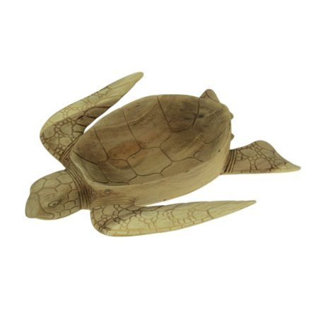 Hand Carved Mahogany Sea Turtle Centerpiece Bowl 16 Inch ()
