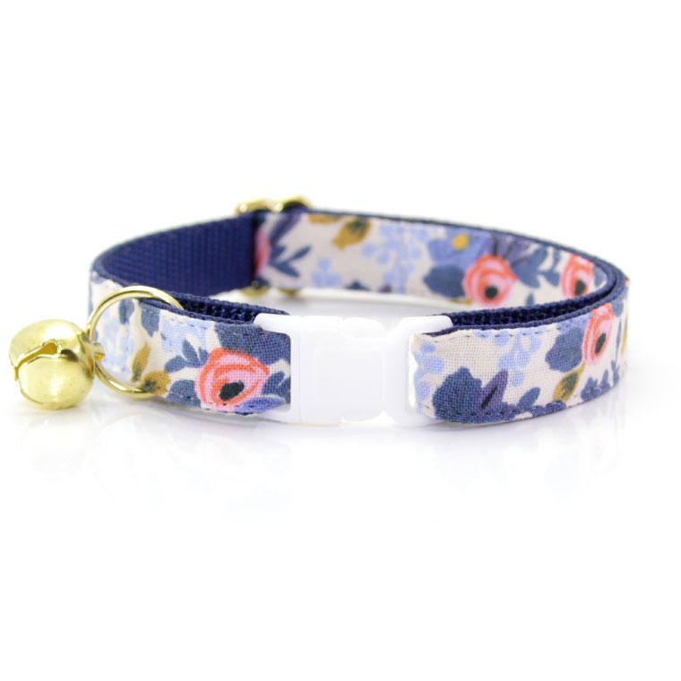 """Made By Cleo """"Amelie"""" Floral Breakaway Cat Collar Adult Cat Size (Adjustable 8-13 Inches) by Made By Cleo"""