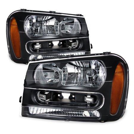 - Fit 2002-2009 Chevy Trailblazer Replacement Headlights 02 03 04 05 06 07 08 09