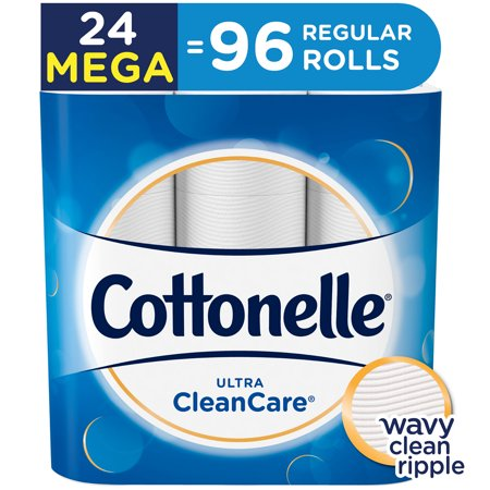 Cottonelle Ultra Clean Care 24 Mega Rolls, Toilet Paper