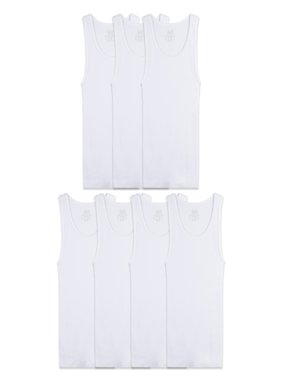 Fruit of the Loom Super Value Classic White Tank Undershirts, 7 Pack Sizes 4 - 18/20