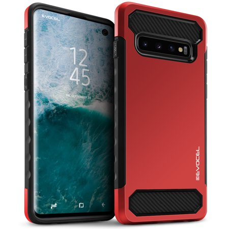 Red Samsung Telephone - Galaxy S10 Case, Evocel [Lightweight] [Slim Profile] [Dual Layer] [Matte Finish] Dual Lite Series Phone Case for Samsung Galaxy S10, Red