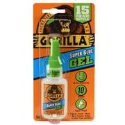 Gorilla Glue Clear Super Glue Gel Bottle, 15 Grams
