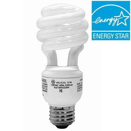 energy smart cfl light bulbs 13 watt 60w equivalent. Black Bedroom Furniture Sets. Home Design Ideas