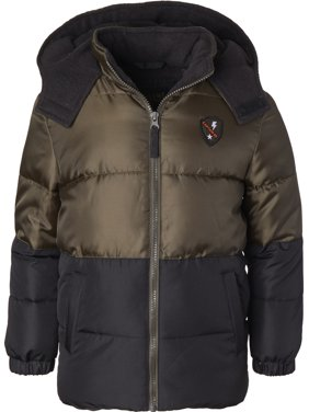 iXtreme Baby Toddler Boy Colorblock Patch Winter Jacket Coat