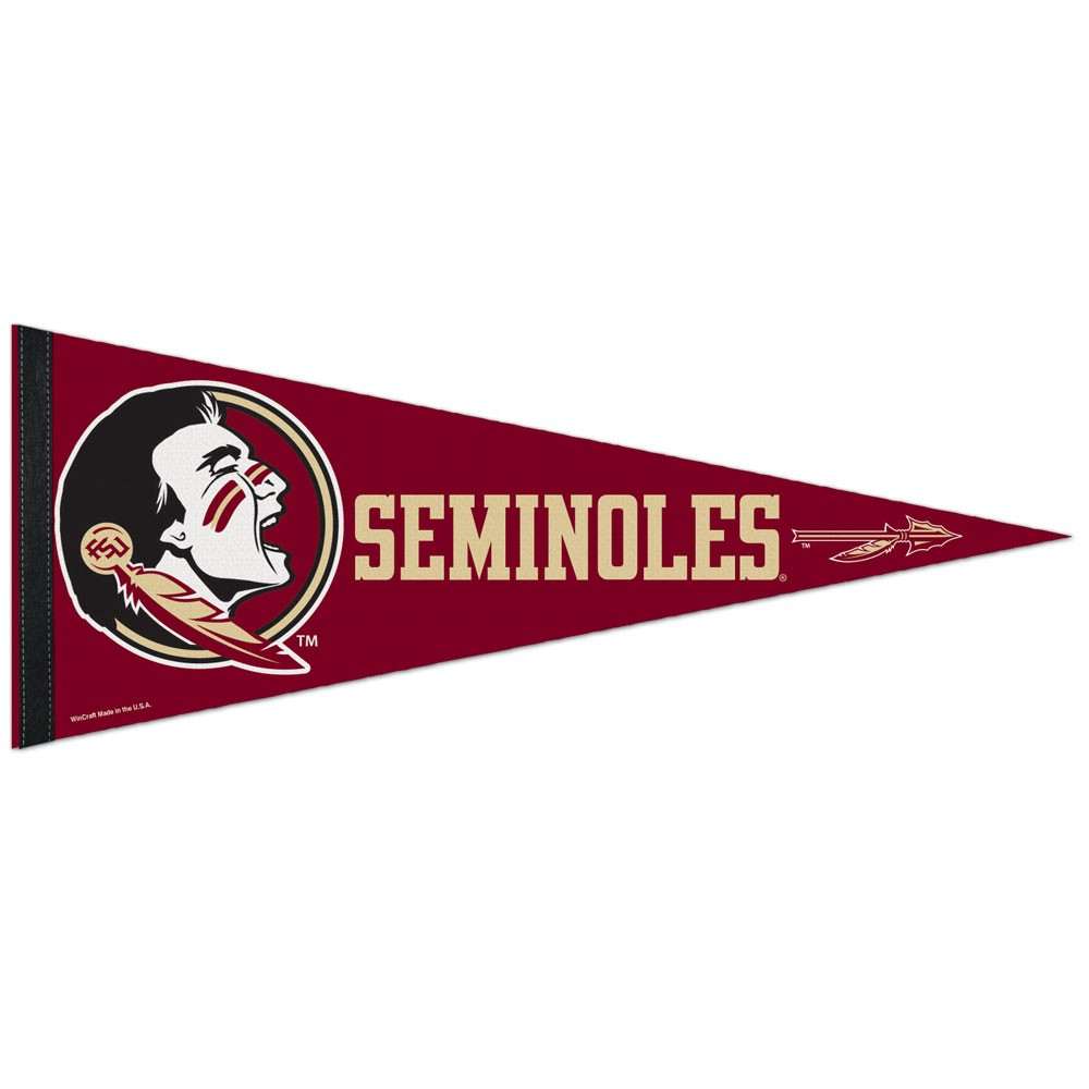 Florida State Seminoles Official NCAA 12 inch  x 30 inch  Premium Pennant by WinCraft