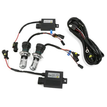 Auto Car H4 Xenon Light Hi-Lo Bi-Xenon 55W HID Slim Conversion Kit DC 12V 6000K