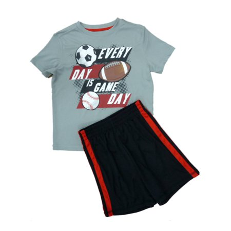 Energy Zone Boys 2 PC Every Day Is Game Day Athletic Shorts & Shirt Set X-Small