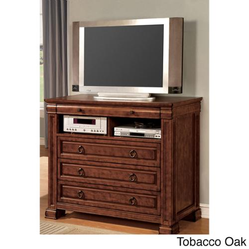 Furniture of America Claresse Transitional Style Media Chest Tobacco Oak