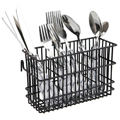 Home Basics Black Wire Cutlery Holder