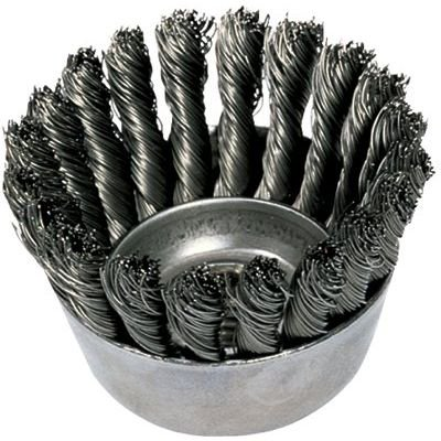 "Image of 2-3/4"" Knot Wire Cup Brush .020 Ss Wire"